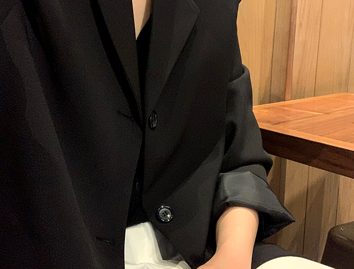 3-button basic jacket